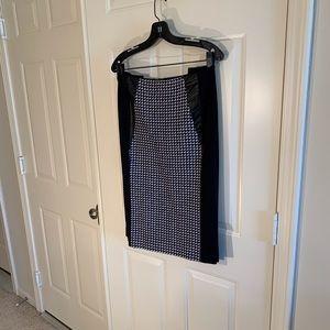 Sejour blue/black/white checked pencil skirt